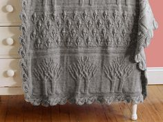 Tree of Life Afghan by Nicky Epstein Knit Blanket Kit - None