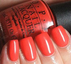 Icy Nails: OPI My Paprika is Hotter Than Yours: Swatch and Review. #nailpolish #opi #bblogcoalition #bbloggers