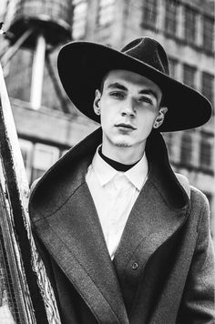 Regime de L'Automne–Re:Quest models Cole Mohr and Yuri Pleskun star in the cover story for the fall 2012 issue of Fashionisto magazine… Cole Mohr, Male Witch, Races Style, The Fashionisto, Witch Fashion, Ride On Toys, Kids Bike, Inspiration Mode, Wide-brim Hat