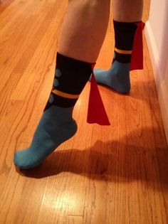 Thor socks... with capes!