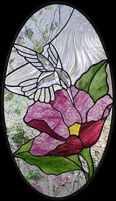 stained glass patterns birds | Stained Glass Supplies - GST-9 Large Hummingbird Bevel Cluster