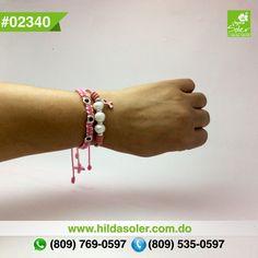OCTUBRE mes internacional del Cancer. ÚNETE.... Pulseritas solidarias en piel con perlas cultivadas  RD $350 pesos