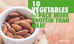 """The most common question vegans hear these days is """"Where do you get your protein from?"""" This list offers the top 10 protein-rich vegetable sources:"""
