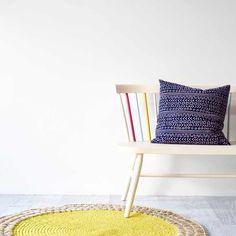Sage & Clare Jules Crochet Rug - Chartreuse   Buy Online