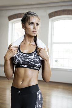 Check out the Marquina sports bra! Available at www.stronger.se. | www.strongerlabel.com #sportsbra #lookbook