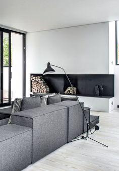 Бетон в интерьере: уникальная вилла в Дании