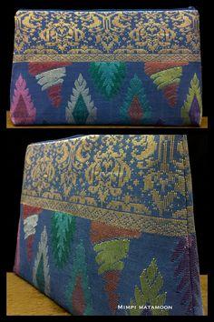 Songket Aztec HAZ evening clutch #mimpimatamoon #pouch #songket #madeinmalaysia