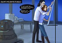 Jane & Loki Science And Magic by LessienMoonstar.deviantart.com on @deviantART I love Fan Art!