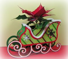 Such a cute Sleigh from SANTA'S VISIT SVG KIT made by Elke.  Love the colors!