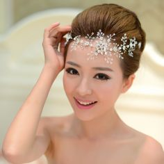 Free Shipping Crystal Hairbands Wedding Bride Flower Headband Bridal Hair Accessories Wholesale am016 US $14.81