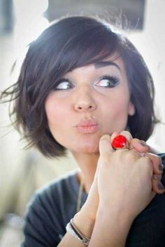 25 Cute Hair Styles for Short Hair | http://www.short-hairstyles.co/25-cute-hair-styles-for-short-hair.html