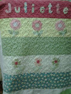 Quilted4You: Cute, Cute quilts for twin girls - long arm quilted #longarm #quilting