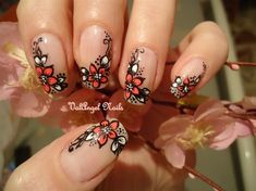 Nail art soft flower by ValangelNails from Nail Art Gallery
