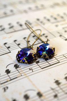 Blue earrings #earrings