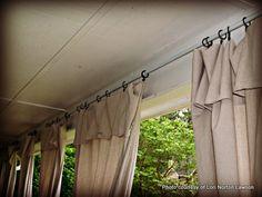 Handmade curtain panels by Lori Lawson