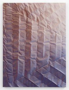 Tauba Auerbach Untitled (Fold)  2012  Acrylic on canvas / Wooden stretcher  60 x 45 inches   152.4 x 114.3 cm