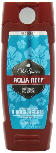 Old Spice Red Zone Aqua Reef Scent Men's Body Wash (front only)