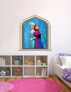 Disney Frozen Elsa & Anna Castle Window Disney Princess Girls Bedroom (60cm x 40cm) WALL ART DESIRE http://www.amazon.com/dp/B00KUR8HQW/ref=cm_sw_r_pi_dp_hqAZtb16PV95AB4X