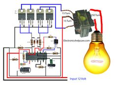 This post for, how to make an inverter? using to if we want to make 100 watts inverter we can use this circuit diagram. This post for, how to make an inverter? using to if we want to make 100 watts inverter we can use this circuit diagram. Electronics Projects, Hobby Electronics, Cool Electronics, Electronics Components, Lab Power Supply, Electronic Circuit Design, Electronic Engineering, Electrical Engineering, Cruise Control