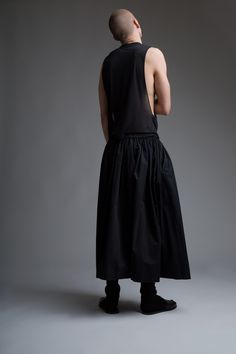 Vintage Men's Dior Homme Tank and Yohji Yamamoto Skirt. Designer Clothing Dark Minimal Street Style Fashion