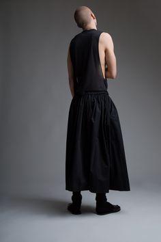 Vintage Men's Dior Homme Tank and Yohji Yamamoto Skirt. Designer Clothing Dark Minimal Street Style Fashion