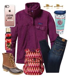 """""""We have a blizzard warning its crazy!!"""" by ctrygrl1999 ❤ liked on Polyvore featuring Patagonia, American Eagle Outfitters, L.L.Bean, Vera Bradley, Tervis, ZoÃ« Chicco and Casetify"""