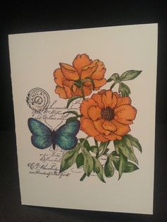 Set of note cards 3, penny black stamp