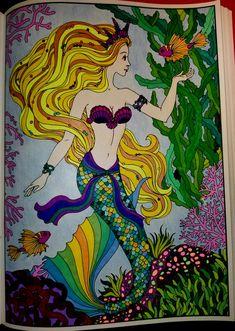 Mermaid Coloring Book, Coloring Book Art, Coloring Pages, Mermaid Drawings, Mermaid Art, Mermaid Pictures, Z Arts, Pen Art, Gel Pens