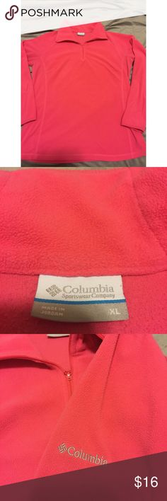 🎉🎉Columbia Pullover🎉🎉 🎉🎉This a great gently used pink Columbia pullover. This is the perfect sweater for a cool night or just to be trendy this up coming fall.  No stains or rips! In great condition. Size XL. 🎉🎉 I'm pricing well to sell quick. Columbia Sweaters