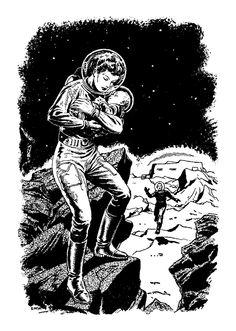 Fantastic Mid-Century Science Fiction Pulp Illustrations