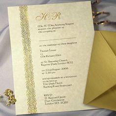 Celtic Parchment Wedding Invitation with Envelopes from CelebrationsPlus.com