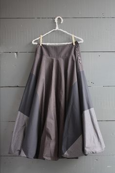 Cabbages & Roses Dark Stripe Side Button Skirt