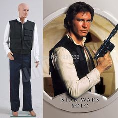 Star Wars A New Hope Han Solo Cosplay Costume Vest Shirt Pants Full Set Halloween Suit for Man Adults #Affiliate