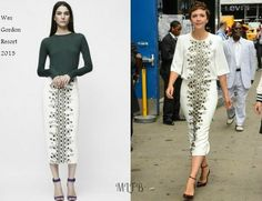 Maggie Gyllenhaal In Wes Gordon - 'Good Morning America'. Re-tweet and favorite it here: https://twitter.com/MyFashBlog/status/495382288817860611/photo/1