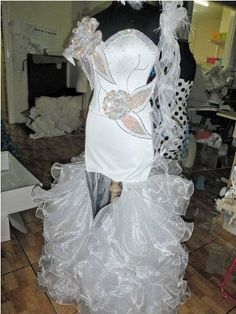Gypsy wedding thelma madine sparkle bling white corset for Ugly wedding dresses for sale
