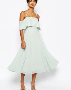 Mint Off-Shoulder Dress by ASOS