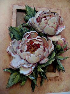 . Sculpture Painting, 3d Painting, Texture Painting, Paper Mache Clay, Paper Clay, 3d Paper Art, Decoupage Vintage, Learn Art, Ceramic Flowers