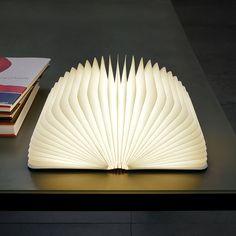 Lumio Book Lamp from MoMA Design Store. Shop more products from MoMA Design Store on Wanelo. Lampe Salon Design, Lamp Design, Design Design, Chair Design, Interior Design, Cool Lighting, Lighting Design, Lighting Ideas, Hardcover Book Binding