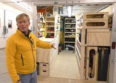 This 14-foot cargo trailer is as organized as the cabin of a boat and contains more tools and supplies than most people could reasonably store in twice the amount of space.