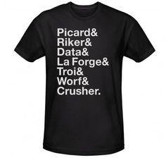 Star Trek The Next Generation Names T-Shirt | New Arrivals | Star Trek Store