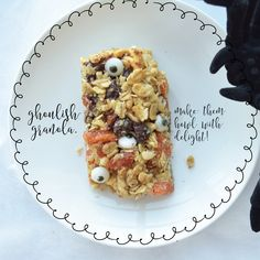 Day 282 - Ghoulish Granola: Make Them Howl With Delight. Healthy Halloween Treats, Creating A Blog, Granola, Waffles, Change, Create, Breakfast, Food, Morning Coffee
