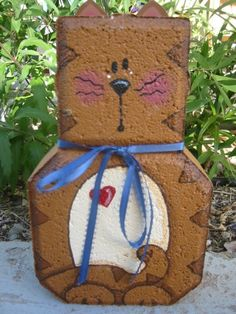 Painted Paver Kitty Cat Patio Person by SunburstOutdoorDecor on Etsy, Painted Bricks Crafts, Brick Crafts, Painted Pavers, Painted Rocks, Cement Pavers, Brick Pavers, Painting Concrete, Stone Painting, Patio Blocks
