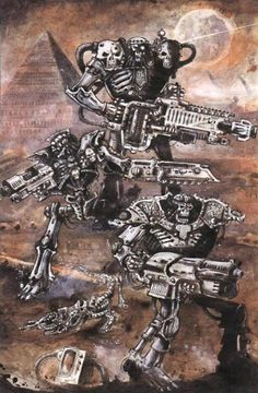 If Terminators were punkers John Blanche would have designed them!