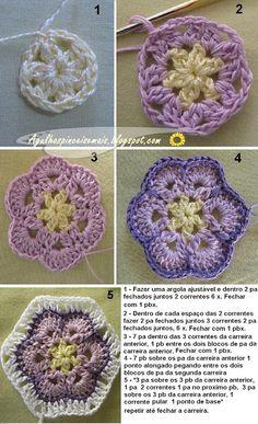 Agulhas e Pinceis: Flores e bichinhos de crochê