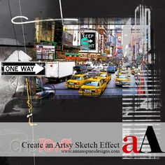 Anna_Aspnes_Artsy_DigitalScrapbooking_Sketch Effect Tutorial_Preview