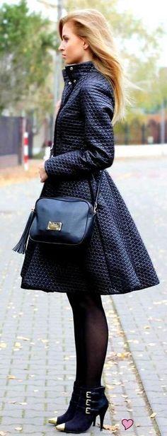 Street style fall coat