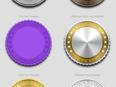 Crypto Currency Coin Design Template Freebie by Chris Farina