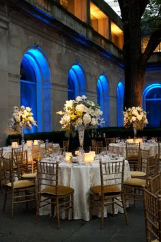 Illuminated Archways at Reception   Photography: Artisan Events. Read More: http://www.insideweddings.com/weddings/breathtaking-blue-wedding-at-the-art-institute-of-chicago/251/