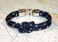 """I'm no hardcore preppy in my style, but I love the #nautical aesthetic. And I generally avoid bracelets because they're always, always too big and dangly and get in my way. But their XS is 6.5"""", which just might work with my 6""""-circumference wrists ... would love to try in-store."""