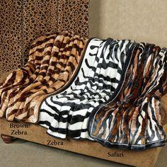 Exotic Safari Animal Print Throw Blankets